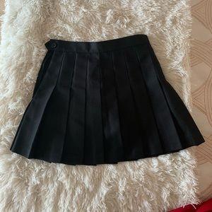 NWT American Apparel black mini tennis skirt